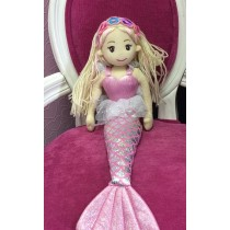 Mermaid Doll - 100cm - Blonde with Garland