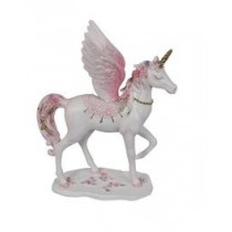 25cm Flying Floral Unicorn - Pink
