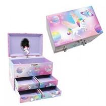 Pink Poppy To the Moon Medium Music Box