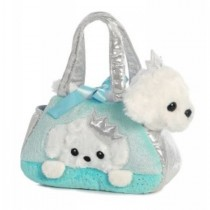 Fancy Pals Plush Peek-A-Boo Princess Puppy Pet Bag