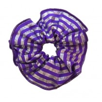 PW Dance Scrunchie - Foil Striped - Purple