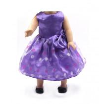 "18"" Sparkle Dress - Purple Polkadot"
