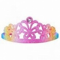 Pink Poppy Rainbow Tiara - Rainbow