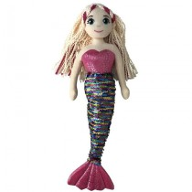 Mermaid Doll - 45cm Sequin - Rainbow