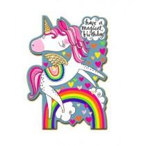 Rachel Ellen Card - Magical Unicorn Rainbow