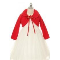 Fleece Bolero Jacket - Red