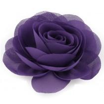 Chiffon Rose - Hair Clips - Purple