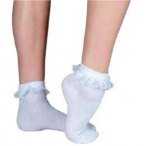 Socks Lace Frill - White
