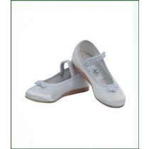 Rosette Satin Shoes - White