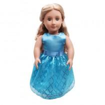 """18"""" Sequin Dress - Blue"""