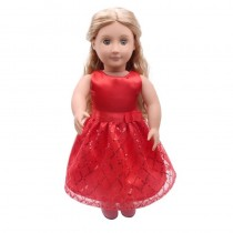 "18"" Sequin Dress - Red"