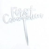 Cake Topper - Communion - Silver