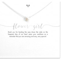 Flower Girl Necklace - Silver