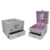 Polka Dot Ballet Slipper Small Music Box