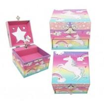 Pink Poppy Cotton Candy Unicorn Small Jewellery Box