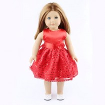 "18"" Sparkle Dress - Red"