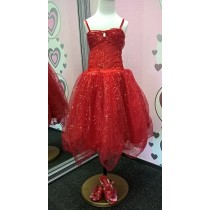 Sparkle Princess Dress - Red
