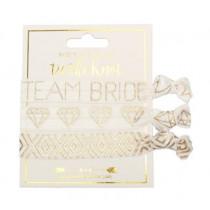 Help me tie the knot - Team Bride Hair Tie Set (White)