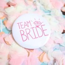 Bridal Party Pin - Pink Diamond - Team Bride