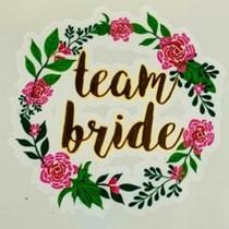 Temporary Tattoo - Floral - Team Bride