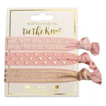 Help me tie the knot - Team Bride Hair Tie Set