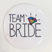 Bridal Party Pin - Rainbow Diamond - Team Bride