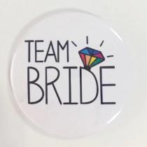 Bridal Party Pin - Rainbow Diamond - Team Bride