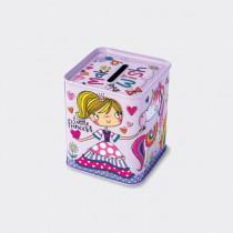 Rachel Ellen - Money Box Tin - Unicorn Princess