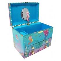 Pink Poppy Under the Sea Sequin Music Box Medium