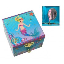 Pink Poppy Under the Sea Sequin Music Box Small