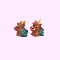 Clip On earrings - Unicorn Head