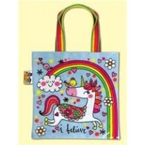 Rachel Ellen I Believe Unicorn Tote Bag