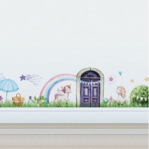 Unicorn Village - Removable 1m Wall Decal