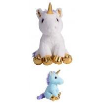 29cm Golden Plush Unicorn - White