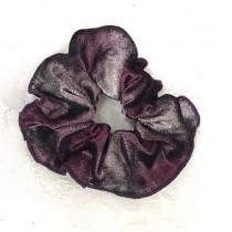 PW Dance Scrunchie - Velvet Watercolour - Burgundy