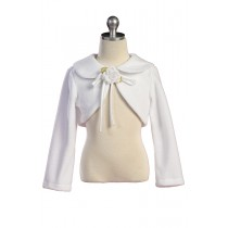 Fleece Bolero Jacket - White