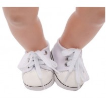 """18"""" Doll Shoes - White Sneakers"""