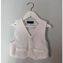 Boys Waist Coat - White