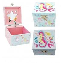 Pink Poppy Wish Upon a Starfish Small Music Box