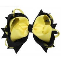 Black/Yellow Bow Clip