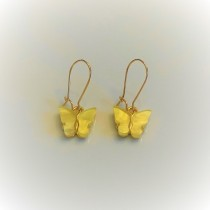 Ara DesigNZ - Butterfly Earrings - Yellow