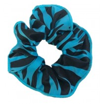 PW Dance Scrunchie - Zebra Print - Turquoise