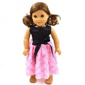 "18"" Felicity Dolls Dress - Light Pink"