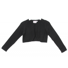 Knit Pearl Cardigan - Black