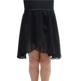 Chiffon Pull On Elastic Skirt - Black