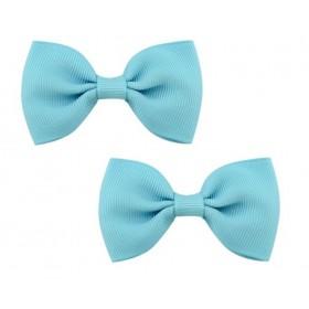 Bow Hair Clips - (2pc) -  Blue