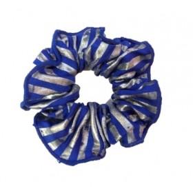 PW Dance Scrunchie - Foil Striped - Blue