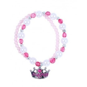 Pink Poppy Sweetness & Charms Bracelet - Hot Pink
