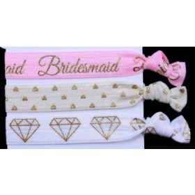 Bridesmaid Hair Tie Set (3pc)