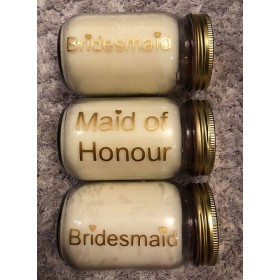Personalised 'Bridal Party' Candle